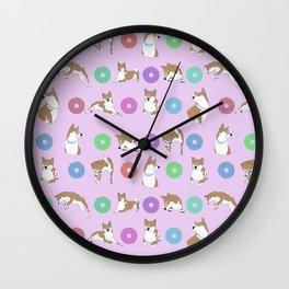 Shiba Inu Donut Wall Clock