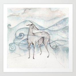 Whippet Art Print