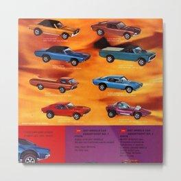 1969 World of Hot Wheels Redline Vintage Poster Metal Print
