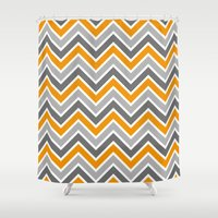 chevron Shower Curtains featuring Chevron by eARTh