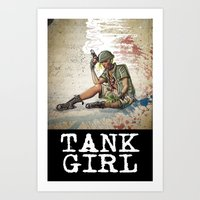 tank girl Art Prints featuring Tank Girl by Joe Badon