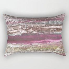 Brown violet wash drawing design Rectangular Pillow