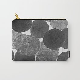 Abstract Gray Carry-All Pouch