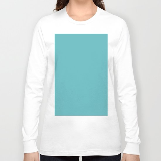 Simply Aqua- Mix and Match- A darker day at the Beach Long Sleeve T-shirt