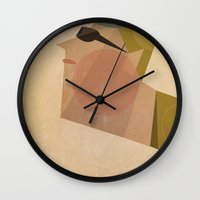 louis armstrong Wall Clocks featuring Armstrong by Riccardo Guasco