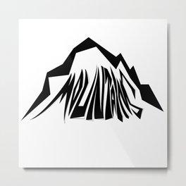 Mountains Oldschool Metal Print