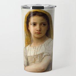 """William-Adolphe Bouguereau """"Young girl"""" Travel Mug"""