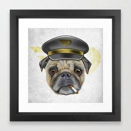 Pug Commander  Framed Art Print