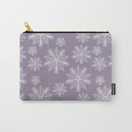 Christmas snowflakes grape Carry-All Pouch