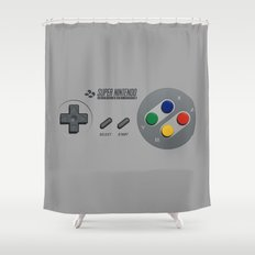 Classic Nintendo Controller Shower Curtain