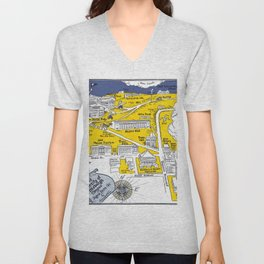 PITTSBURGH University map PENNSYLVANIA  dorm decor Unisex V-Neck