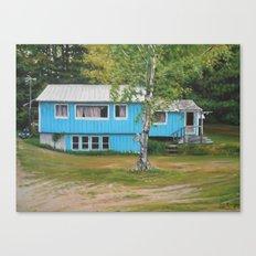 Teal House Canvas Print