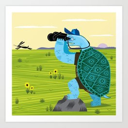 The Tortoise and The Hare Art Print