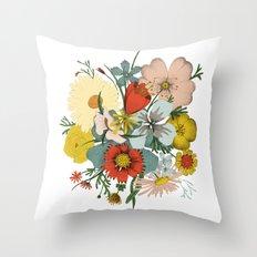Flower Wad Throw Pillow