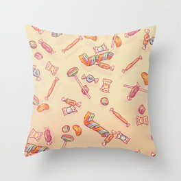 Candies Absolutely Everywhere Throw Pillow
