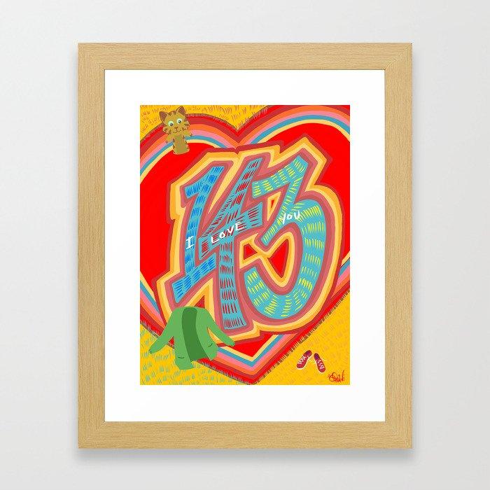 143 - I Love You Neighbor - Mister Rogers Neighborhood Inspired Framed Art Print