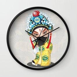 Beijing Opera Character LiuBei Wall Clock