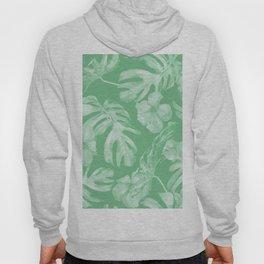 Tropical Palm Leaves Green Hoody