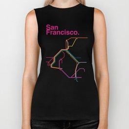 San Francisco Transit Map Biker Tank