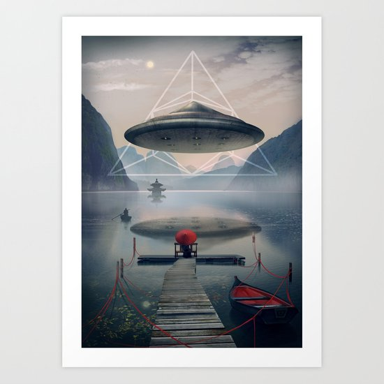 the calm Art Print