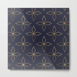Gold Modern Deco 2 Metal Print
