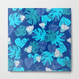 Tropical Blue Metal Print