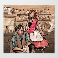 western Canvas Prints featuring Western by sacari