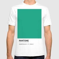 Pantone 17-5641 White MEDIUM Mens Fitted Tee