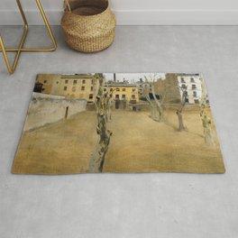 12,000pixel-500dpi - Ramon Casas - Courtyard Of The Old Barcelona Prison - Digital Remaster Rug