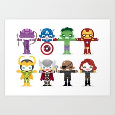 THE AVENGER'S 'ASSEMBLE' ROBOTICS Art Print