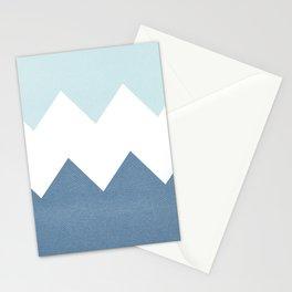 BLUE BLOCK CHEVRON Stationery Cards