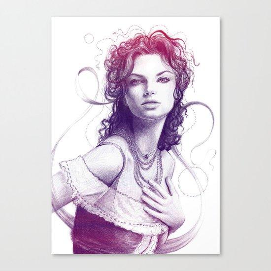 Beautiful Girl Portrait Canvas Print