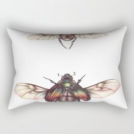 Two Winged Beetles Rectangular Pillow
