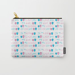 je t'aime 6-je t'aime,I love you,love,girl,romantic,romantism,women,heart,sweet,French,France,gentle Carry-All Pouch
