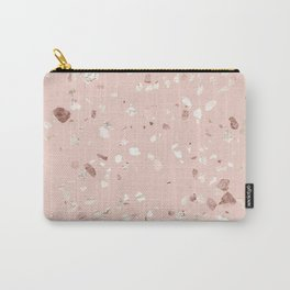 Blush Pink + Rose Gold Terrazzo Carry-All Pouch