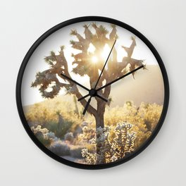 Desert, Joshua Tree Sun Wall Clock