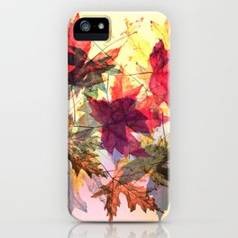 fallen leaves III iPhone Case