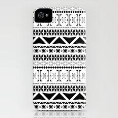 Black & White Pattern iPhone (4, 4s) Slim Case