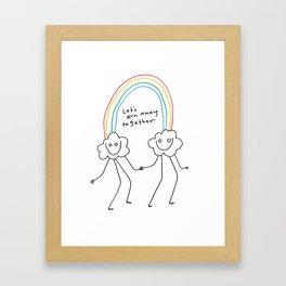 Runaway Rainbow Framed Art Print