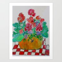 Lively Pansies Art Print