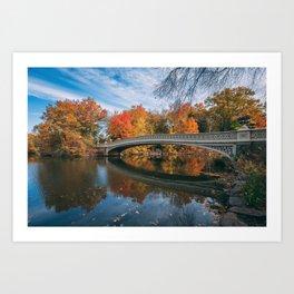 Bow Bridge Autumn 03 Art Print