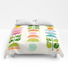Sugar Blooms - Abstract Retro Inspired Design Comforters
