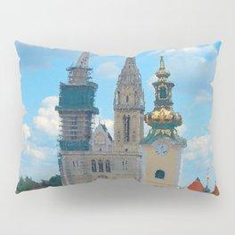 Croatia Skyline Pillow Sham