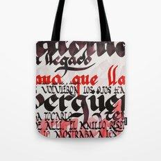Calligraphic poster V Tote Bag