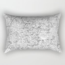 Vintage Map of Brussels (1905) BW Rectangular Pillow