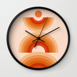 Abstraction_SUN_Rainbow_Minimalism_008 Wall Clock