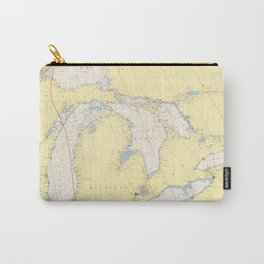 Vintage Map of The Great Lakes (1966) Carry-All Pouch