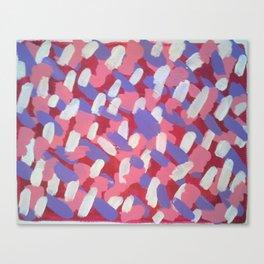 Pink and Purple Brushstrokes Art Canvas Print