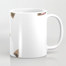 Wooden boat red-white sail Coffee Mug