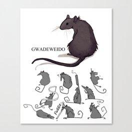 Feeling Ratty Canvas Print
